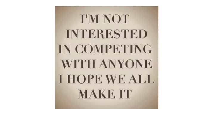 Waarom ik geen concurrenten heb