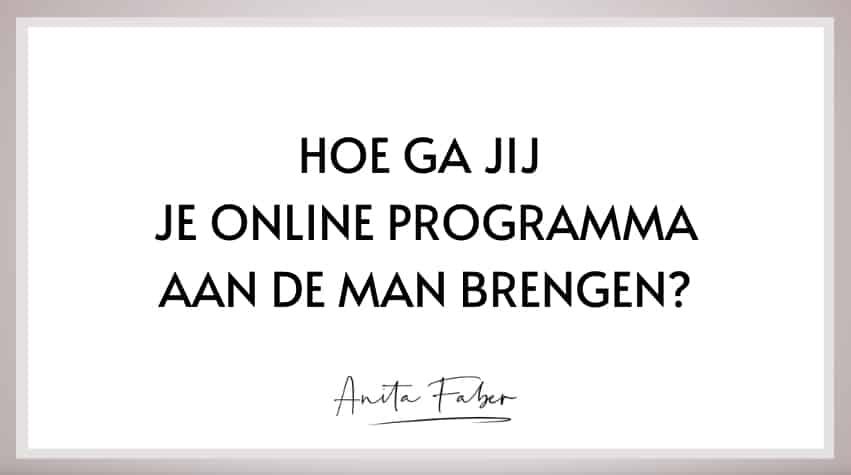 online programma